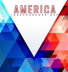 atylish american independence day design vector image