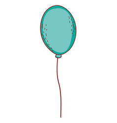 balloon flying isolated vector image