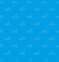 banana peel pattern seamless blue vector image