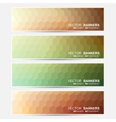 Banners set vector