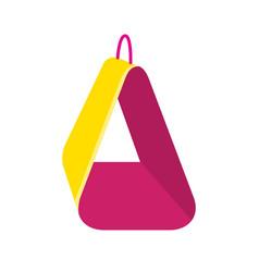 Bird soft hammock icon in flat style vector
