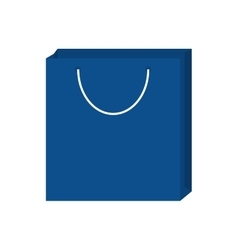 Blue bag gift shopping design vector