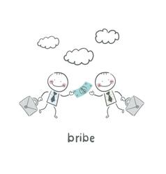 bribe vector image