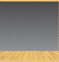 brown wood floor on transparent background vector image