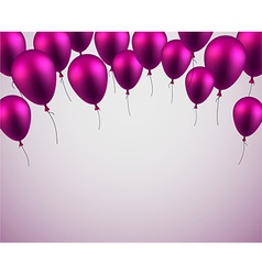 Celebrate background with purple balloons vector