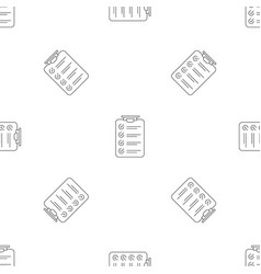 checklist pattern seamless vector image