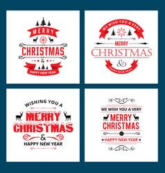 christmas card vintage vector image