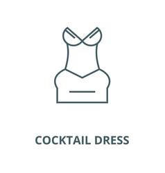 cocktail dress line icon cocktail dress vector image