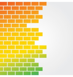 Colorful brick background vector image