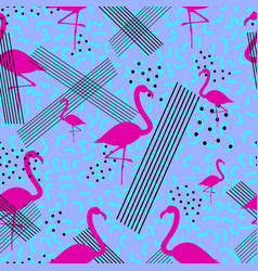 Colorful seamless pattern in memphis style with vector