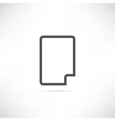 Corner Empty Sheet Icon vector image