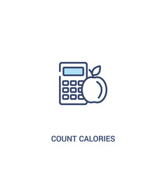 Count calories concept 2 colored icon simple line vector