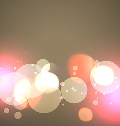 Creative background of bokeh lights vector
