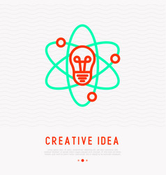 creative idea concept thin line icon vector image