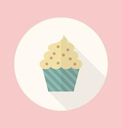 Cupcake flat icon vector