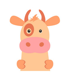 cute cow isolated on white background vector image