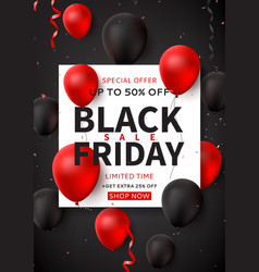 dark promo poster for black friday sale vector image
