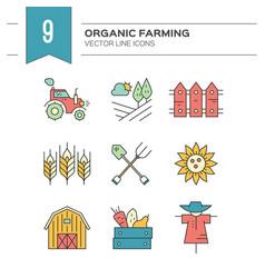 Eco farming icons vector