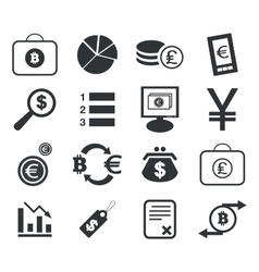 Finance icon set 3 simple vector image