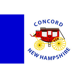 Flag of concord in new hampshire usa vector