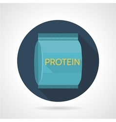 Flat color icon for protein supplements vector