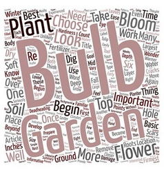 Flower Bulbs text background wordcloud concept vector