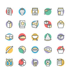 Food Cool Icons 8 vector