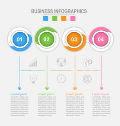 four options of infographic connection process vector image vector image