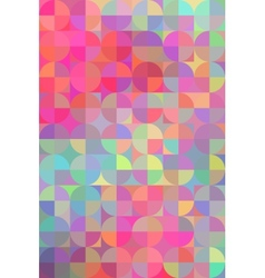 geometric circle background vector image
