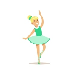 Girl Dancing Ballet Creative Child Practicing vector