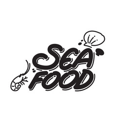 graphich seafood vector image