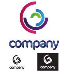 Half circles modern logo vector
