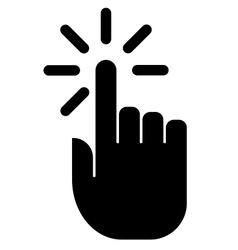 Hand click icon vector