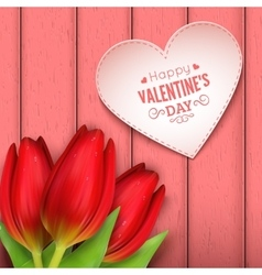 Heart shaped frame and text vector