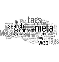 How to create meta tags to optimize your web site vector