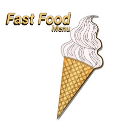 ice cream dessert over white background fast food vector image