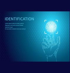 Identification fingerprints poster digital data vector