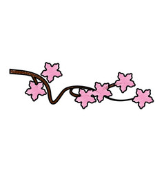 japanese tree branch icon vector image