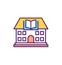 Library building rgb color icon vector