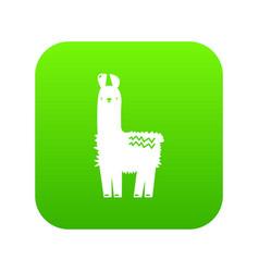 Llama icon green vector