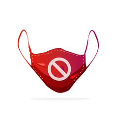 Medical mask with logo stop corona virus vector