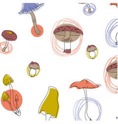 Mushroom pattern seamless design graphic vector