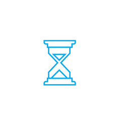 noting the time linear icon concept noting the vector image