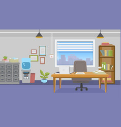 office interior with furniture in cartoon style vector image