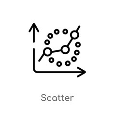 Outline scatter icon isolated black simple line vector