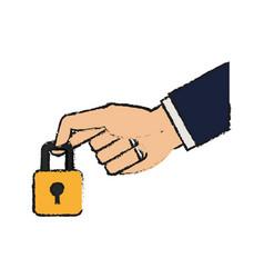 Padlock icon image vector