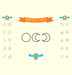 phases of the moon - line icons vector image
