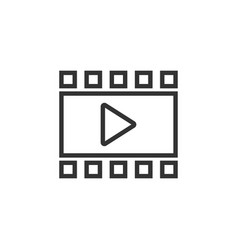 play video icon graphic design template vector image