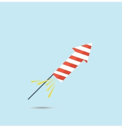 Pyrotechnic rocket vector image