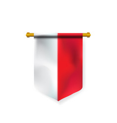 Realistic national poland flag for design element vector